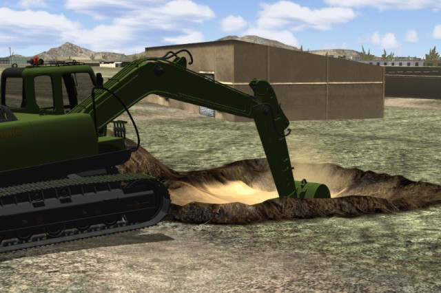 An R&D excavator on Afghanistan terrain illustrates soil layers.