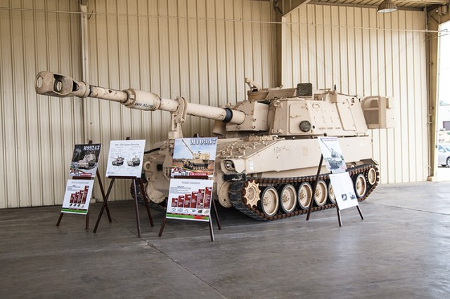 The M109A7 and M992A3, formerly known as the Army's Paladin Integrated Management program, were both inducted into low-rate initial production during a ceremony at Anniston Army Depot, Ala., May 14, 2014.