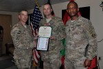 Lt. Col. Bergmann receives Bronze Star medal