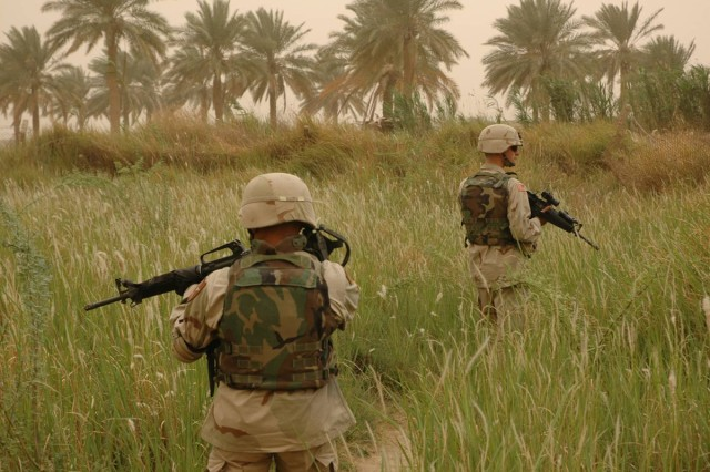 The 2nd Infantry Division's 2nd Brigade Combat Team deployed from South Korea to Iraq's Sunni Triangle, in August 2004.