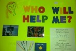 Poster for donations in the school