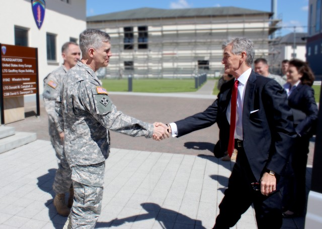 Secretary of the Army discusses strategic capabilities with U.S. Army Europe