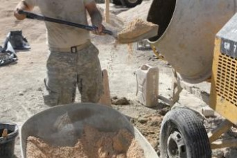 322nd Engineers lay final concrete block in Dominican Republic