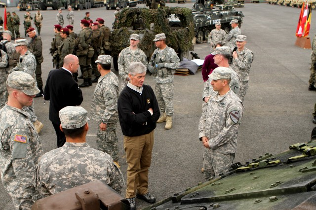 Secretary McHugh visits for Capabilities Day