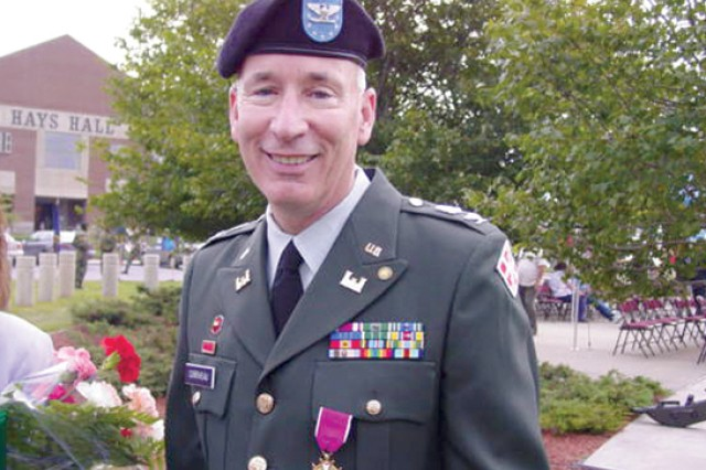 Col. Jim Corriveau retired at Fort Drum from the Army Reserves in 2004. On a personal note, Army Vice Chief of Staff Gen. Lloyd J. Austin III, then-commanding general of Fort Drum and the 10th Mountain Division (LI), attended the ceremony upon Corriveau's request.
