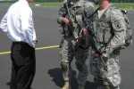 Secretary of the Army performs impromptu reenlistment in Latvia