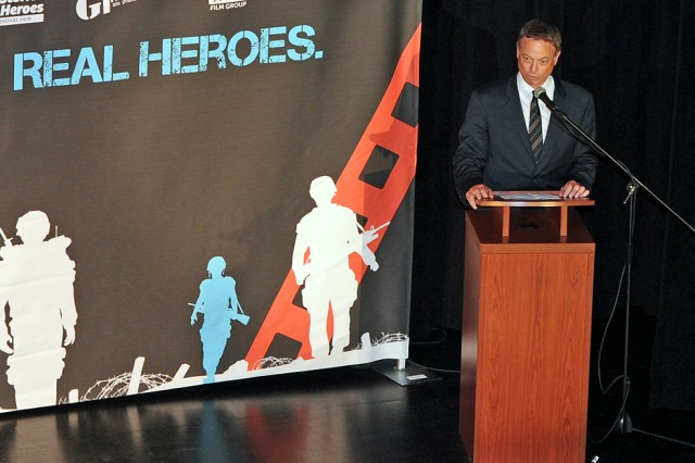 "Actor and philanthropist Gary Sinise has been called the ""Bob Hope of his generation,"" for his support of the military services personally and through the Gary Sinise Foundation. Sinise served as keynote speaker at the GI Film Festival's Salute to Hollywood Patriots event May 23, 2014, in Old Town Alexandria, Va."
