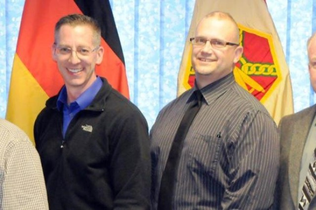 The U.S. Army Garrison Bavaria Antiterrorism Office, which won the Army Antiterrorism Award for a Category B Installation, is comprised of: Richie Reeder, Jerry Hollo, Keith Brewer and Paul Gentry.