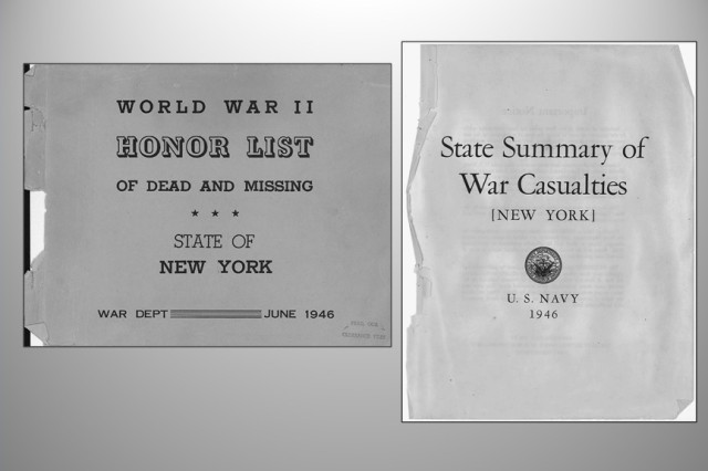 The list of New Yorkers who died in World War II while serving in the Army and Army Air Forces, and the listing of New Yorkers who were killed, wounded, died or taken prisoner while serving in the Navy, Marines and Coast Guard, have been converted from difficult to search PDF documents to an Excel database by volunteers working with the New York State Military Museum.