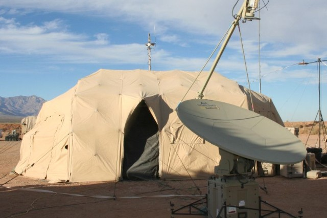 Many systems with capabilities similar to T2C2 have been fielded over the years to address operational needs, however T2C2 product selection is not expected until the second quarter fiscal year 2016. (Photo concept depiction is for market research only.) Transportable Tactical Command Communications Heavy will provide small company sized units with satellite network communications capabilities similar to the Army's high-bandwidth Secure Internet Protocol Router/Non-secure Internet Protocol Router Access Point, or SNAP, ground satellite terminals, but with enhancements that include military satellite and secure Colorless Core capability. The SNAP shown here was part of the Network Integration Evaluation 13.1 at White Sands Missile Range, N.M., and Fort Bliss, Texas.