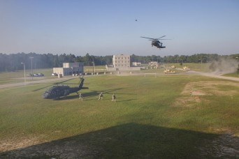 Soldiers of 3rd Squadron, 17th Cavalry Regiment, 3rd Combat Aviation Brigade provided aviation support during air assault and medical evacuation missions for Raider Focus-a recently completed field training exercise led by 1st Armored Brigade Combat...