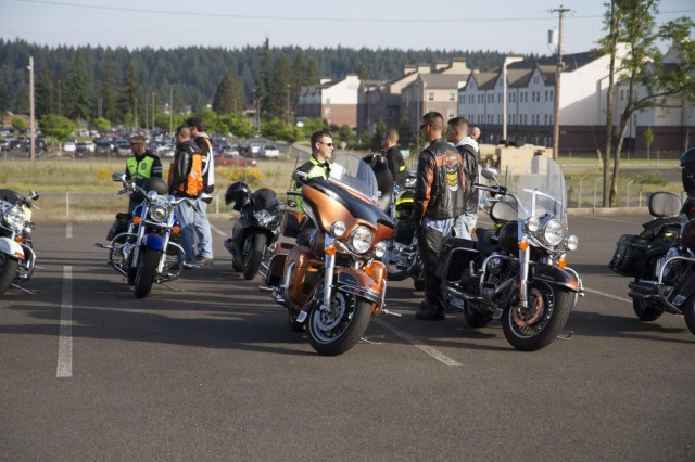 The 7th Infantry Division organizes a division motorcycle safety ride, May 22. The ride is part of a program to promote safe riding practices, improve rider skills and build unit camaraderie.