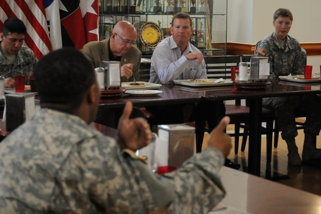 Former leaders of the Army visit 210th FA Bde.