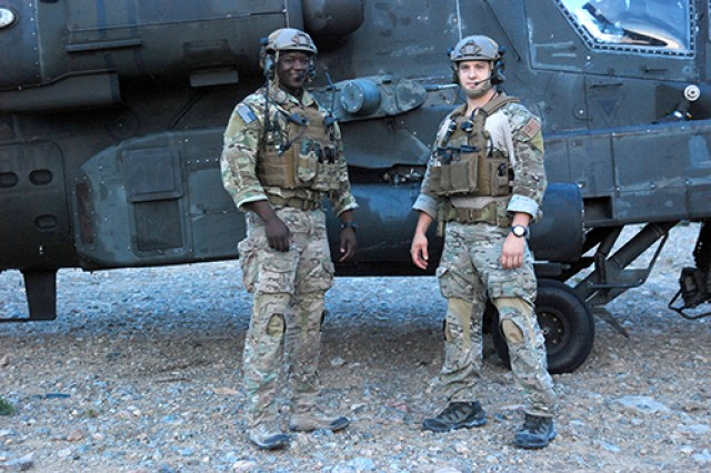 Joint terminal attack controllers assigned to the 22nd Special Tactics Squadron out of Joint Base Lewis-McChord, Wash., pose for a picture during an AH-64 Apache helicopter gunnery range May 15.
