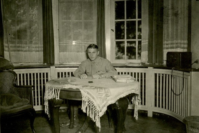 """This photo was taken in late 1945 in France when Orville """"Bill"""" Munson was a major."""