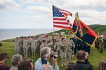 'Big Red One' Soldiers, local community pay respects at monument in Normandy