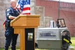 SGT Jonathan Drake speaks at memorial ceremony for Kyra
