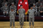 Staffs held high to honor change of responsibility and command in 2CAB
