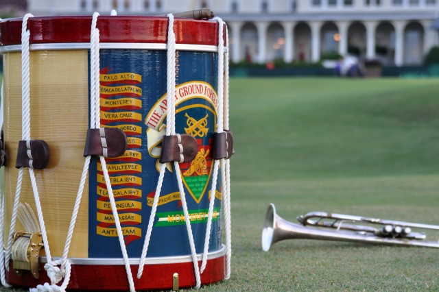 PINEHURST, N.C. (June 14, 2014) - The Army Ground Forces Band equipment prepared for the U.S. Golf Association 'Operation Open Glory' salute to our military and celebration of the 239th Army Birthday.