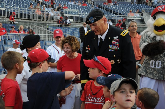 Washington Nationals recognize, honor Army Soldiers