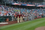 Old Guard Soldiers Recognized during Washington Nationals Army Day celebration