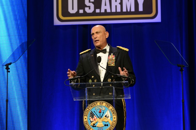 Chief of Staff of the Army Gen. Ray Odierno said there are some 70,000 Soldiers deployed around the world today, fighting, and defending the United States and its interests. The general spoke during the 2014 Army Birthday Ball, June 21, 2014, at National Harbor, Md.