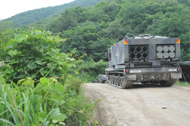CHEOLWON, South Korea -- Soldiers from 6th Battalion, 37th Field Artillery Regiment, 210th Field Artillery Brigade, 2nd Infantry Division, conducts a Live Fire Exercise June 20, 2014 in Rocket Valley, Cheolwon, South Korea.