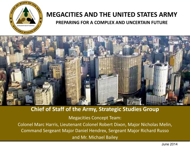 Megacities and the U.S. Army cover (sized for web)