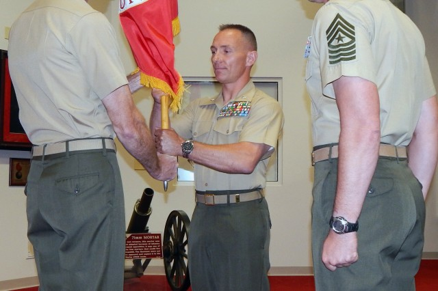 Gilley takes command of Marine Corps Detactment, Fort Lee
