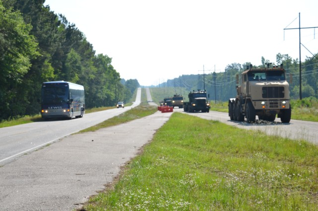 VIPs review AMAS CAD II convoy