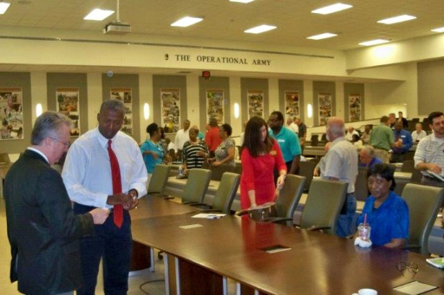 More than 80 contractors had the opportunity to network during the acquisition forecast open house June 18 at Fort Benning, Georgia.