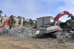 Destruction for Appetite: POM sees demolition of obsolete buildings in preparation for new dining facility.