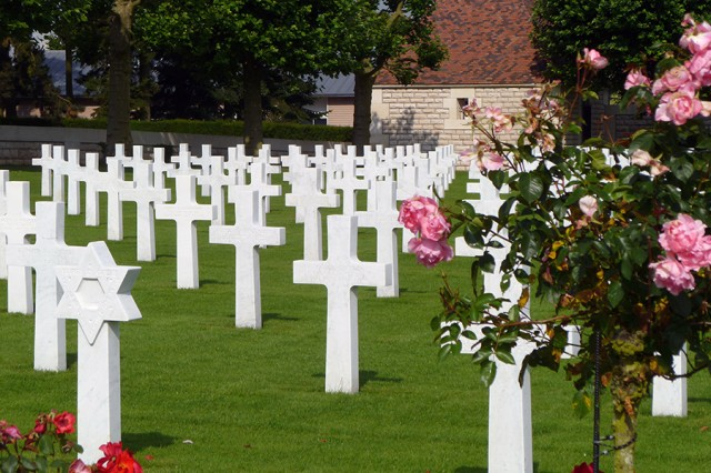 The Somme American Cemetery at Bony, France, contains the remains of Soldiers who died fighting alongside the British forces.