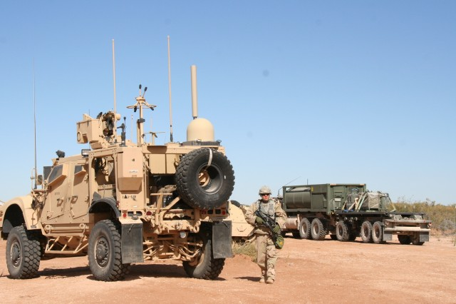 The Soldier Network Extension (SNE), pictured at left, is part of the Warfighter Information Network-Tactical (WIN-T) Increment 2 mobile network that enables Soldiers operating in remote and challenging terrain to maintain voice, video and data communications while on the move. The Army is making the SNE more user-friendly through major reductions in startup and shutdown times, a simplified graphical interface and improved troubleshooting tools.