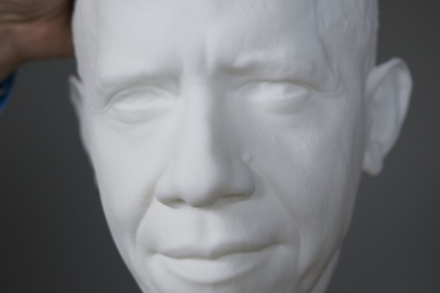 The University of Southern California's Institute for Creative Technologies was part of a Smithsonian-led team that created 3-D portraits of President Barack Obama. The portraits include a digital and 3-D printed bust and life mask. Both were on display at the first-ever White House Maker Faire on June 18, 2014.