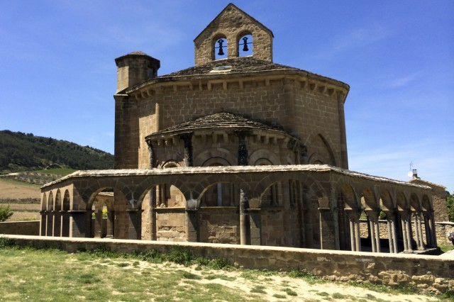 This is Santa Maria de Eunate, a 12th century church located near Puente La Reina, Spain.  Barney Schulte, a structural engineer in the U.S. Army Corps of Engineers Nashville District, snapped this photo May 4, 2014 during his 490-mile pilgrimage of Camino de Santiago, an ancient path that Christians retrace for spiritual renewal.
