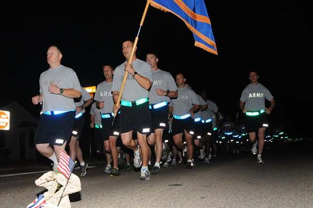 Soldiers run during a previous Fort Rucker post-wide run.