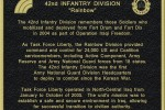 Memorial Marking 42nd Infantry Division Iraq Service Unveiled.