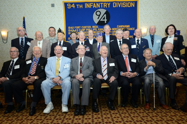 Some 20 World War II veterans of the 94th Infantry Division gathered in Arlington, Va., June 28, 2014, for their 65th annual reunion.