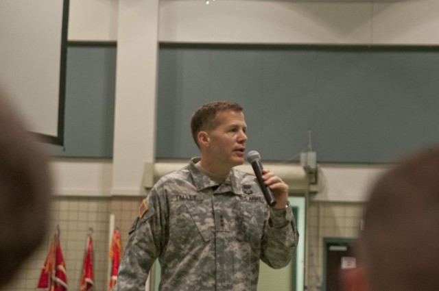 Talley holds town hall for 412th TEC