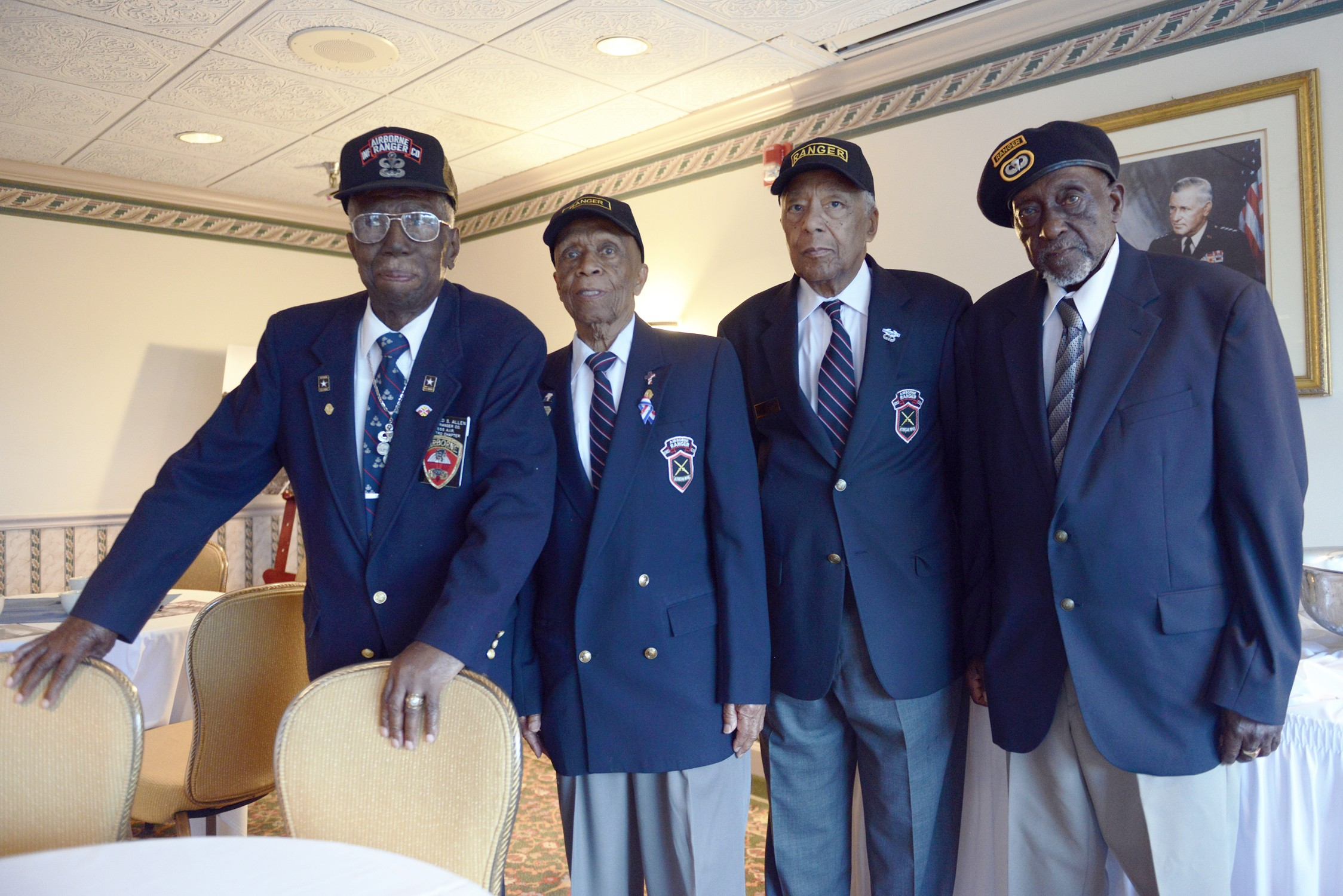 Rangers in all-black company remember Korean service