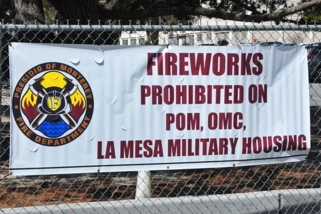 Fireworks use is illegal on military property, including OMC, POM and La Mesa.