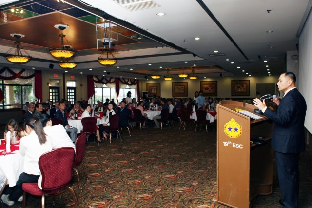 "Participants marked the closing ceremony of the 19th Expeditionary Sustainment Command's, ""Team 19,"" 21st annual Korean American Friendship Circle June 27 at Camp Walker's Evergreen Community Club."