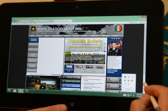 The Army is a Common Access Card-enabled, Windows-based operating environment. That means Soldiers can't access a lot of education content from home or other places when they're using mobile devices.