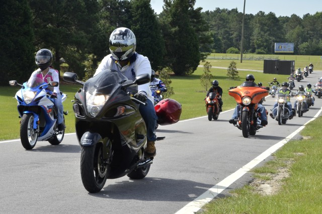 The Fort Jackson Safety Office hosted its annual Victory Thunder Rally Friday at Hilton Field June 27, 2014. More than 60 motorcyclists participated in this year's event, which gave military and civilian riders an opportunity to unite and discuss the importance of motorcycle safety.