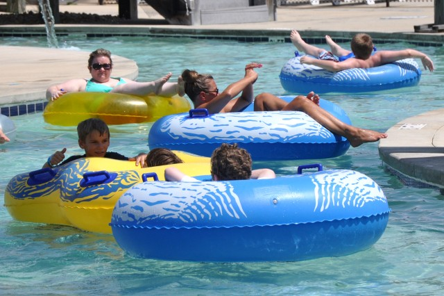 Visitors of Fort Jackson's Palmetto Falls Water Park float down the lazy river July 2, 2014. Safety experts emphasize being cautious when engaging in water activities.