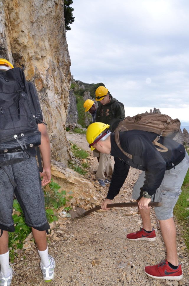 Sky Soldiers join Alpini to clean up historic WWI tunnels