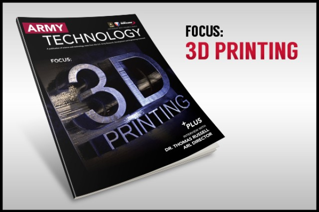 The July/August 2014 Army Technology Magazine discusses the future of 3-D printing. View or download the issue by following the link below in Related Files.