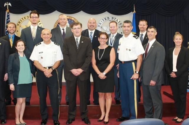 Major General David E. Quantock visited the United States Marshal Service's (USMS) HQ, Crystal City, VA.