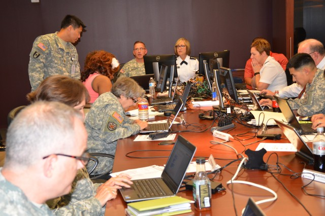 Lt. Gen. Patricia Horoho and her staff of experts respond to 133 questions posted during the Army Medicine Virtual Town Hall on Facebook, July 9, 2014.